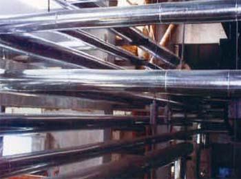 恒丰热电有限公司管道保温及铁皮安装